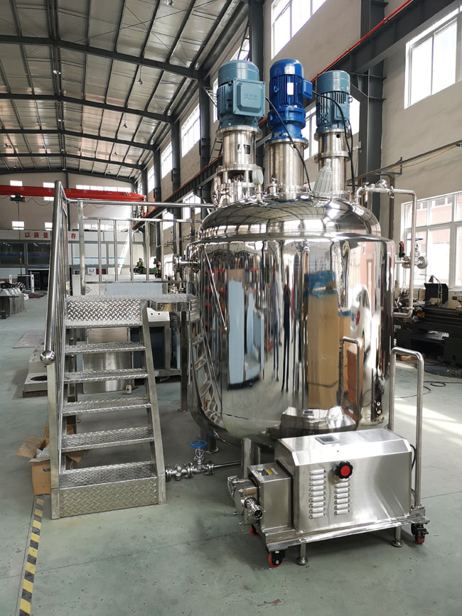 vacuum emulsifying mixer for alcohol gel