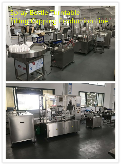 Spray Bottle Turntable Filling Capping Production Line