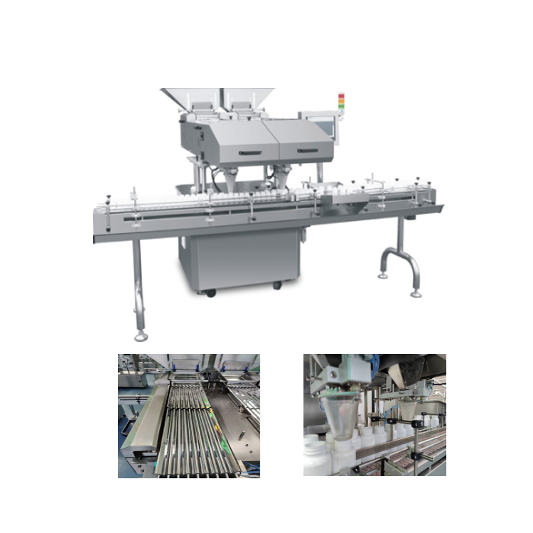 Automatic Capsule Bottle Counting Filling Labeling Machine Line
